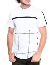 Men - Contrast Zip Multi Patch Tee