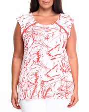 Fashion Lab - Paint Splatter w/ Zipper Top (Plus)