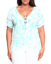 Tees - Paint Splash Tee w/ Necklace (Plus)