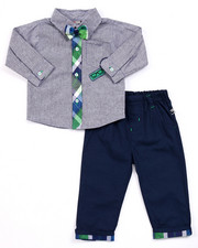 Boys - 2 PC SET - CHAMBRAY  WOVEN & PANTS (INFANT)