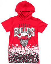 Boys - STREET BULLIES PIXEL HOODED TEE (4-7)