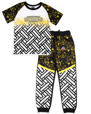 Boys - 2 PC SET - SPLATTER TEE & JOGGERS (8-20)
