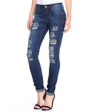 Bottoms - Distress Rips Stretch Skinny Jean