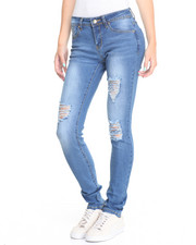 Bottoms - Rips Stretch Skinny Jean