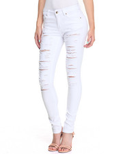 Jeans - Slash Rips Stretch Skinny Jean