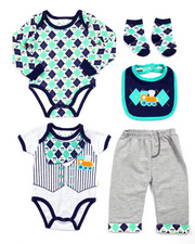 Boys - 5 PC ARGYLE SET (NEWBORN)