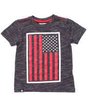 Boys - SLUB AKA FLAG TEE (4-7)