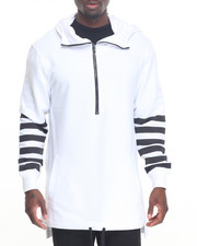 Men - Long Length Hoody w Stripe Detail