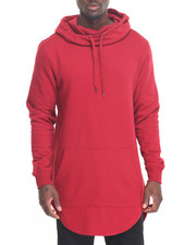 Men - Pullover Fishtail Elongated Hoody