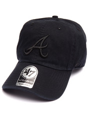 Hats - Atlanta Braves Black on Black Clean Up 47 Strapback Cap