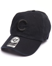 Hats - Chicago Cubs Black on Black Clean Up 47 Strapback Cap