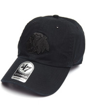 Hats - Chicago Blackhawks Black on Black Clean Up 47 Strapback Cap