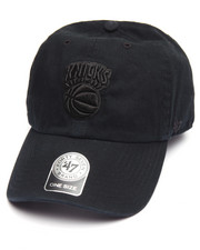 Hats - New York Knicks Black on Black Clean Up 47 Strapback Cap