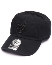 Women - New York Mets Black on Black Clean Up 47 Strapback Cap