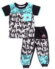 Sizes 2T-4T - Toddler - 2 PC SET - GRAFFITI TEE & JOGGERS (2T-4T)