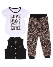 Sizes 4-6x - Kids - 3 PC SET - VEST, TEE, & ANIMAL PRINT JOGGERS (4-6X)
