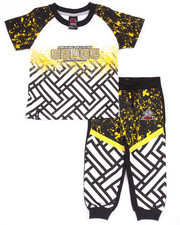 Boys - 2 PC SET - SPLATTER TEE & JOGGERS (4-7)
