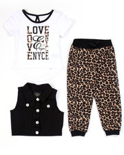 Sets - 3 PC SET - VEST, TEE, & ANIMAL PRINT JOGGERS (2T-4T)