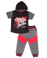 Sizes 2T-4T - Toddler - 2 PC SET - ELEPHANT HOODED TEE & JOGGERS (2T-4T)