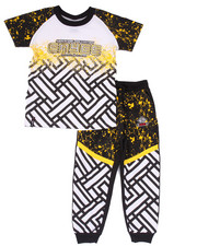 Sizes 2T-4T - Toddler - 2 PC SET - SPLATTER TEE & JOGGERS (2T-4T)