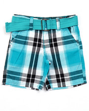 Sizes 2T-4T - Toddler - BELTED PLAID CARGO SHORTS (2T-4T)