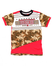 Boys - CUT & SEW PANEL CAMO TEE (4-7)