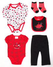 Infant & Newborn - 5 PC LADYBUG SET (NEWBORN)