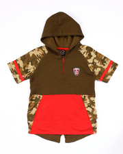 Enyce - SPLIT HEM HOODED CAMO TEE (8-20)