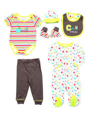Boys - 7 PC GIGGLE MONSTERS GIFT SET (NEWBORN)