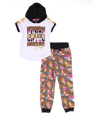 Sizes 7-16 - Big Kids - 2 PC SET - HOODED TEE & LEOPARD JOGGERS (7-16)