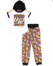 Sizes 4-6x - Kids - 2 PC SET - HOODED TEE & LEOPARD JOGGERS (4-6X)