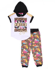 Sets - 2 PC SET - HOODED TEE & LEOPARD JOGGERS (2T-4T)