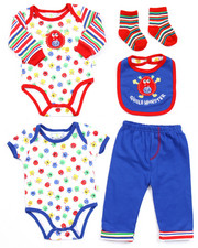 Infant & Newborn - 5 PC GIGGLE MONSTERS SET (NEWBORN)