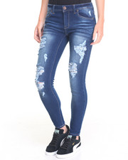 Bottoms - Kenai Skinny Jean W/Relase Hem and Destruction