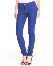 Bottoms - Dark Electric Blue Wash Stretch Skinny Jean