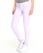 Bottoms - 3 Button Stretch Cotton Skinny Pant