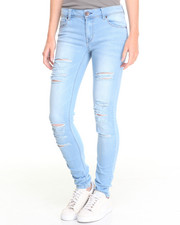 Bottoms - Brianna Skinny Jean W/Destruction