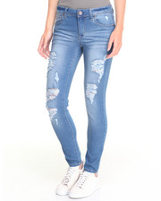 Bottoms - Farrah Heavy Destruction Skinny Jean