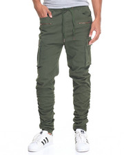 Men - Canvas Cargo Pant w Shirred Leg