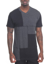 Aknowledge - Patchwork V-Neck Tee