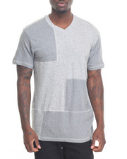 Men - Patchwork V-Neck Tee
