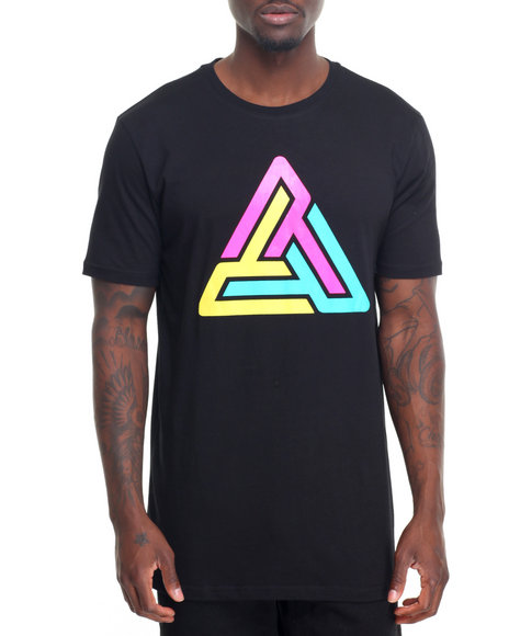 Buy tri color logo s s tee men 39 s shirts from black pyramid for Black pyramid t shirts for sale