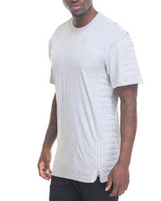 Shirts - Quilted Side - Zip Cut And Sewn S/S Tee