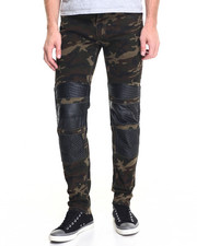 Men - Camo / Denim Moto Pant