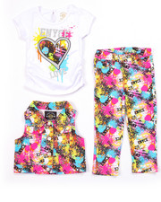 Sets - 3 PC SET - SPLATTER VEST, TEE, & JEANS (2T-4T)