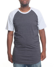 Basic Essentials - HEATHERED RAGLAN SLEEVE TEE (B&T)