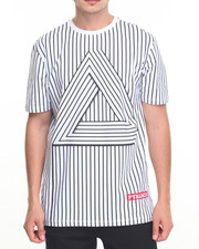 Men - B P Striped Triangle S/S Tee