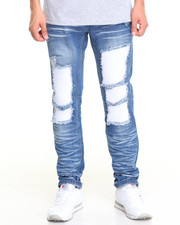 Men - Rip and Repair Denim W/Back Leg Piecing