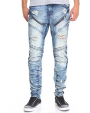 Jeans & Pants - Modified Moto Panel Jean - Biscay Wash