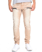 Men - Distressed Moto Chino